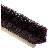 Crimped Maroon Poly Garage Brush
