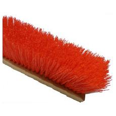 Orange Poly Garage Brush